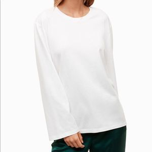Little Moon White Ageratum Long Sleeve Top